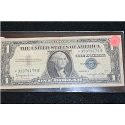 1957-B US Silver Certificate $1, Blue Seal, Star Note