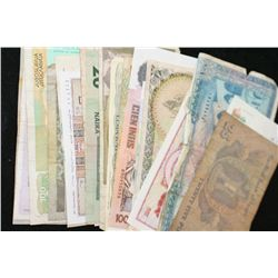 Foreign Bank Note, various dates, conditions & denominations, lot of 25