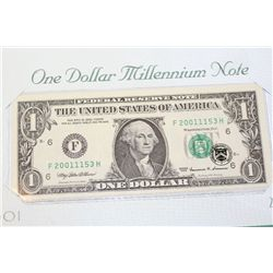 1999 US Federal Reserve Note $1, Atlanta GA Reserve, Millennium Note