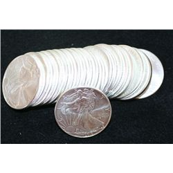 2010 Silver Eagle $1, Roll, lot of 20