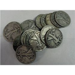 ROLL OF 20 WALKING LIBERTY HALVES