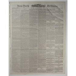 CIVIL WAR NEWSPAPER- NEW YORK TRIBUNE 1/8/1868