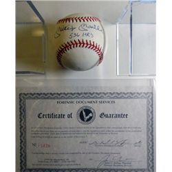 MICKEY MANTLE 536 HOME RUN AUTOGRAPHED BASEBALL