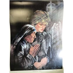 PRINCESS DIANA & MOTHER TERESA 18 X 24 LITHOGRAPH