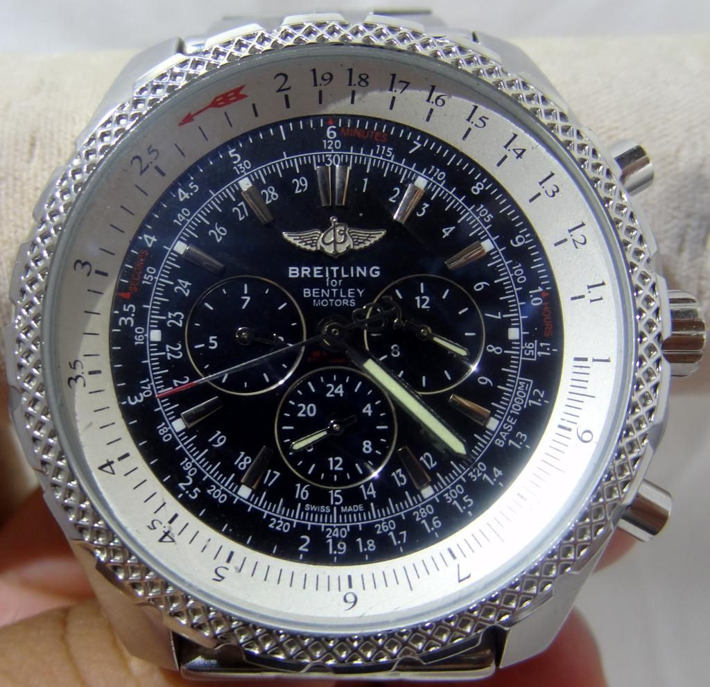 breitling white i chronograph watch tradesy dial motors silver mens bentley