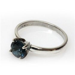 Natural 1.25ctw London Blue Topaz .925 Sterling Ring