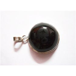 Natural 41.65 ctw Black Onex Pendant .925 Sterling