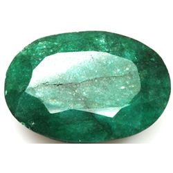 African Emerald Loose Gems 78.21ctw Oval Cut