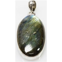 Natural 11.62g Semi Precious .925 Sterling Silver