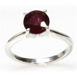 Natural 1ctw Ruby .925 Sterling Silver Ring