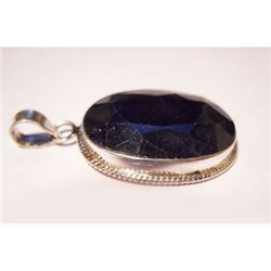 Natural 45.40 ctw Sapphire Oval Pendant .925 Sterling