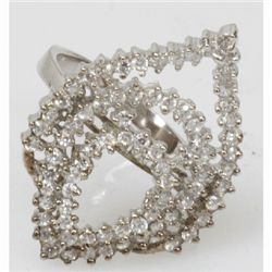 Natural 4.94g CZ Ring .925 Sterling Silver