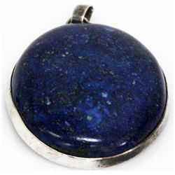 Natural 173.7 ctw Lapis Oval .925 Sterling Pendant