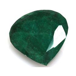African Emerald Loose Gems 95.78ctw Semi Heart Cut