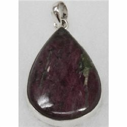 Natural 17.27g Semi-Precious Pendant .925 Sterling