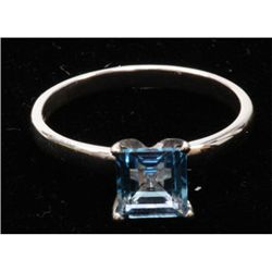 Natural 1.36ctw Blue Topaz .925 Sterling Silver Ring
