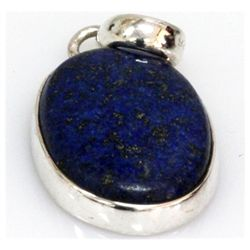 Natural 31.73 ctw Lapis Oval .925 Sterling Pendant