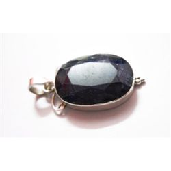 Natural 35.55 ctw Sapphire Oval Pendant .925 Sterling