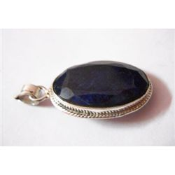 Natural 40.80 ctw Sapphire Oval Pendant .925 Sterling