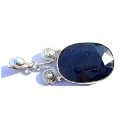 Natural 37.6 ctw Sapphire .925 Sterling Pendant
