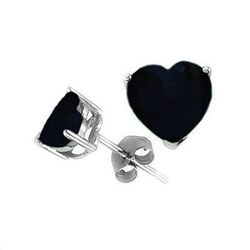 Natural 2.10 ctw Sapphire Heart Earrings .925 Sterling