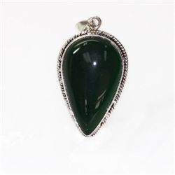 Natural 30.35 ctw Emerald Pear Cut .925 Sterling Silver