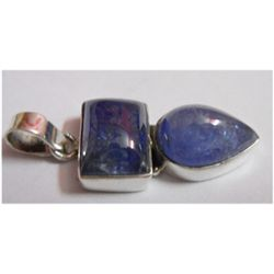 Natural 28.35 ctw Tanzanite Pendant .925 Sterling