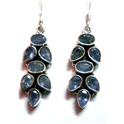 Natural 9.15g Tanzanite .925 Sterling Silver Earrings