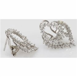 Natural 3.6g CZ Earrings .925 Sterling Silver