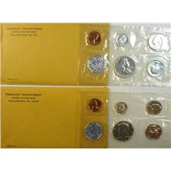1963 & 1964 U.S. MINT PROOF SETS, ORIGINAL PACKAGING