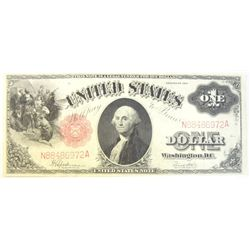 1917 $1 legal tender note  XF