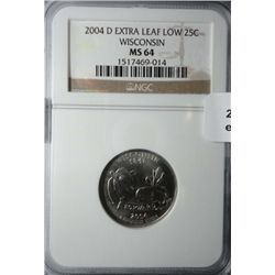 2004D Wisconsin quarter  extra leaf low