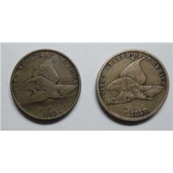 1857 VG-1858 Fine  SL Flying Eagle pennys