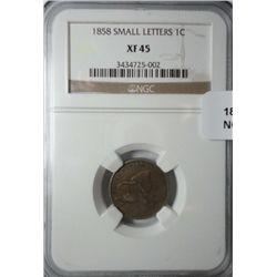 1858 SL Flying Eagle penny NGC45