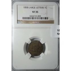 1858 LL Flying Eagle penny NGC35