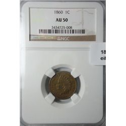 1860 Indian penny NGC50