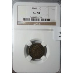 1861 Indian penny NGC50