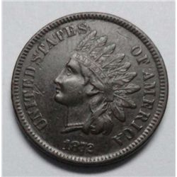1872   Indian penny.  XF  3 diamonds