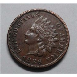 1886 Indian penny  XF