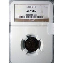 1908S NGC55 Indian penny.   KEY DATE