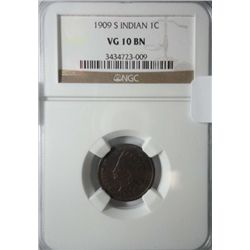 1909S NGC10 Indian penny.   KEY DATE