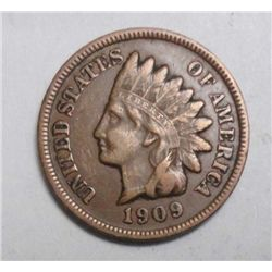 1909S Indian penny near perfect color VF+