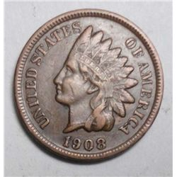 1908S Indian penny near perfect color VF+