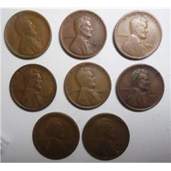 8   1922D Lincoln pennys good or better