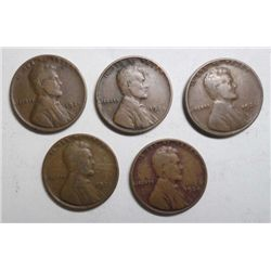 5   1924D Lincoln pennys good or better