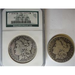 1891O Morgan $ BINION COLLECTION