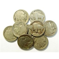 9  1913S T1 Buffalo nickels  good----GS bid = $34 each