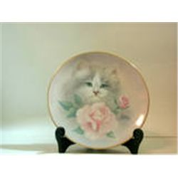 BLUSHING BEAUTIES Collection 1st Issue Petals & Purrs Bob Harrison Plate