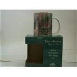 "New In Box Ivory Porcelain Art Mug Thomas Kinkade ""The Light of Peace"""