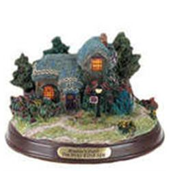 "THOMAS KINKADE-PAINTER OF LIGHT  Lighted Cottage Collection ""Heather's Hutch"""